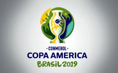 O logotipo da Copa América de 2019 e os traços brasileiros de 2014…