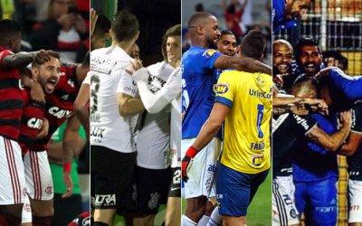 Semifinal da Copa do Brasil de 2018 com Fla x Timão e Cruzeiro x Palmeiras