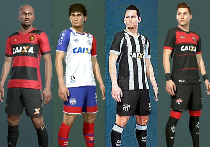 As imagens de Sport, Bahia, Ceará e Vitória no Pro Evolution Soccer 2019