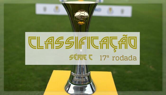 A classificação da Série C após a 17ª rodada, com o Náutico já classificado