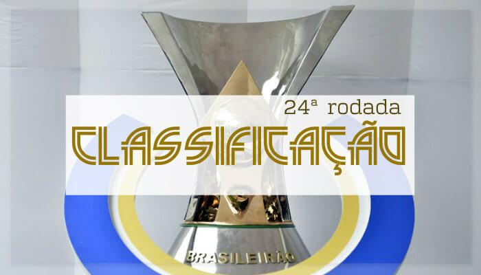 A classificação da Série A do Brasileiro de 2018 após a 24ª rodada