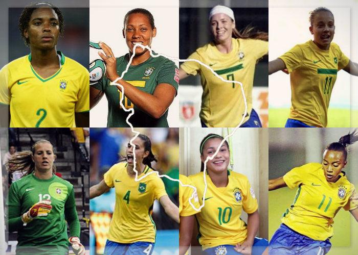 Todas as jogadoras cedidas por clubes do Nordeste à Seleção Brasileira