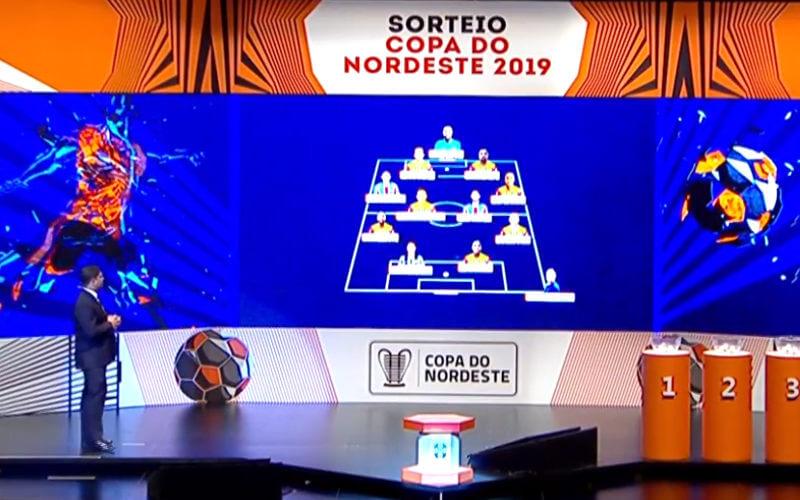 A seleção da Copa do Nordeste de 2018, com 8 jogadores do Sampaio, 2 do Bahia e 1 do Ceará