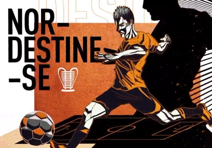 O novo conceito visual da Copa do Nordeste em 2019: : nordestine-se