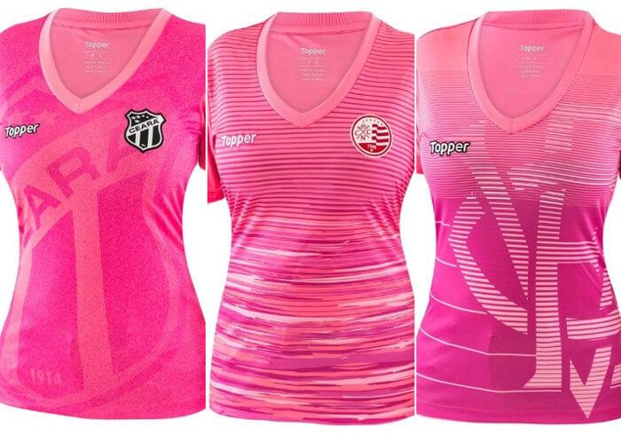 Outubro Rosa, a inspiração para 12 uniformes da Topper, 3 deles no NE