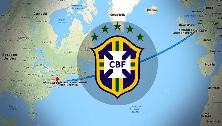 A rotina de amistosos da Seleção Brasileira entre EUA e Inglaterra. De vez em quando, Brasil…