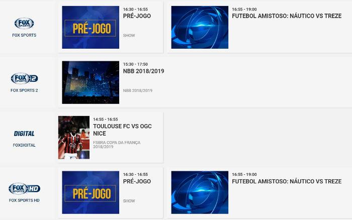 """O """"evento teste"""" da Fox e SBT para a Copa do Nordeste: Náutico x Treze"""