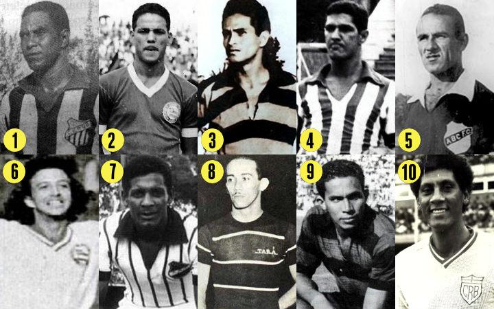 Os maiores artilheiros dos clubes do Nordeste, todos acima de 100 gols