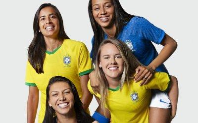 Na 8ª participação no Mundial, o 1º uniforme exclusivo da Seleção Feminina