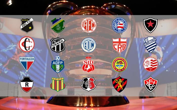 Os 20 clubes da Copa do Nordeste de 2020, com 12 já na fase de grupos