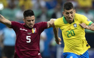 Com 3 gols anulados, Brasil joga mal e empata com a Venezuela em Salvador
