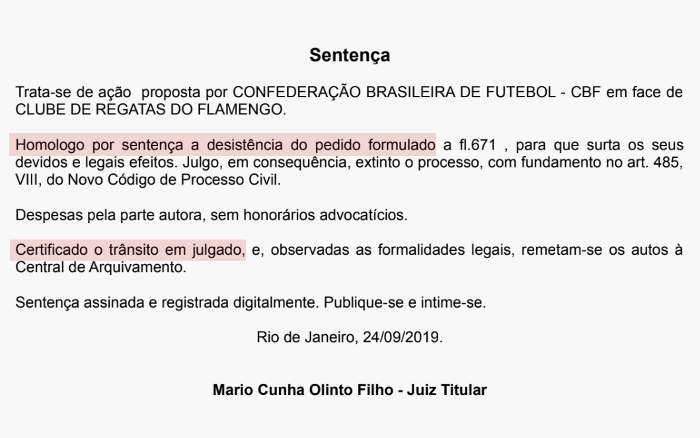 Flamengo desiste de ação judicial para oficialização do título de 1987. Será?