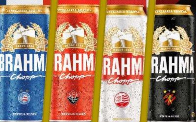 As latas de cerveja dos clubes do Nordeste em 2019. A 3ª versão na década