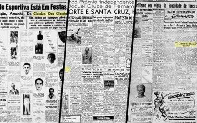 """Quando surgiram os """"nomes"""" dos clássicos nos jornais de Pernambuco"""