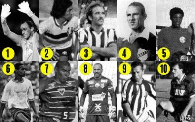 Os recordistas de jogos nos grandes clubes do Nordeste, de 300 a 700