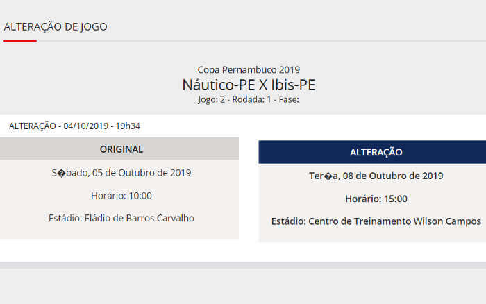 """Copa Pernambuco """"começa"""" com jogo sendo remarcado a 15 horas do início"""