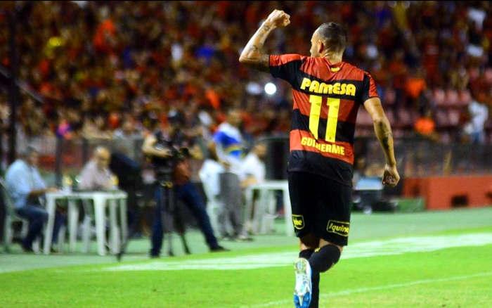 Guilherme, o 3º artilheiro nacional do Sport. Ao todo, o 46º goleador do Nordeste