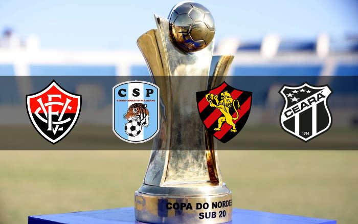 Semifinal da Copa do Nordeste Sub 20 com BA x PB e PE x CE, em Aracaju