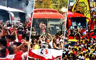 Os ônibus que lotam as avenidas dos Aflitos, do Arruda e da Ilha do Retiro