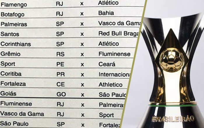 A tabela da Série A 2020, com Bahia, Ceará, Fortaleza e Sport pelo Nordeste