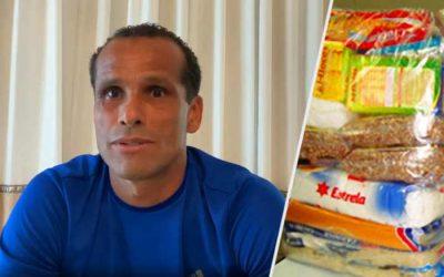 Coronavírus | Rivaldo lança desafio no futebol para a doação de cestas básicas