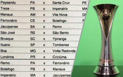A tabela da Série C de 2020, com seis clubes do Nordeste no grupo A