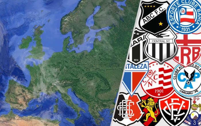 O ranking de vitórias do Nordeste contra clubes da Europa. Lá e lô