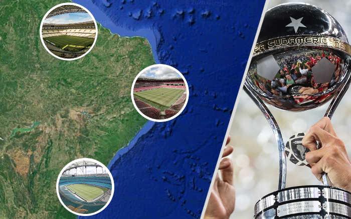 Nordeste com 3 estádios candidatos à final da Copa Sul-Americana. Vale?