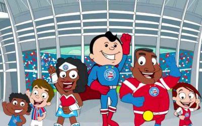 Vídeo | A animação infantil do Bahia, com episódio até sobre a redemocratização