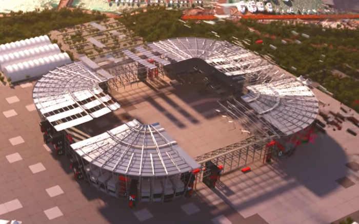 O primeiro estádio desmontável na história da Copa do Mundo, já com validade
