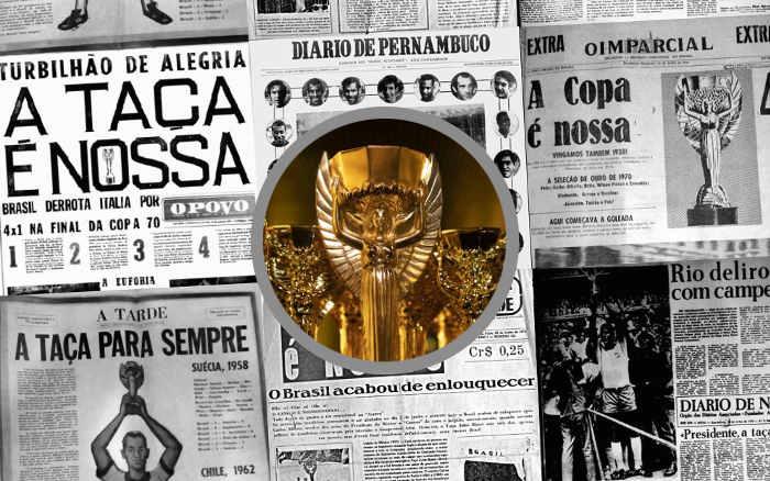50 anos | As manchetes dos jornais do NE sobre o tricampeonato do Brasil, em 1970