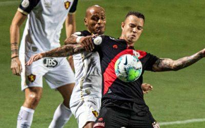 Sport marca aos 49, empata com o Atlético-GO e soma o 1º ponto como visitante