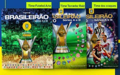 Figurinhas   A capa do 5º álbum oficial do Campeonato Brasileiro, o 34º na história