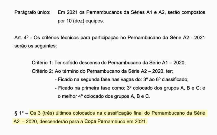 FPF transforma Copa Pernambuco em 3ª divisão e define rebaixamento na Série A2