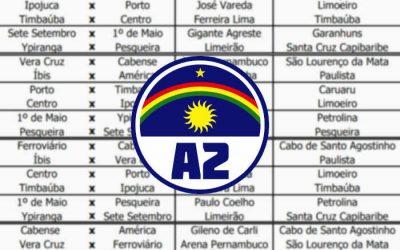 A tabela da Série A2 do Pernambucano, com 59 jogos. Mais que na Série A1