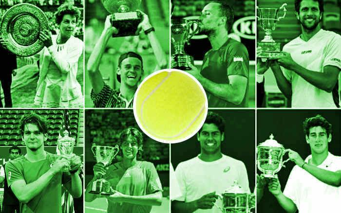 Os tenistas brasileiros campeões de Grand Slam. Grama, saibro, simples, dupla, juvenil…