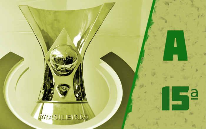 A classificação da Série A de 2020 após a 15ª rodada, com o Corinthians no Z4