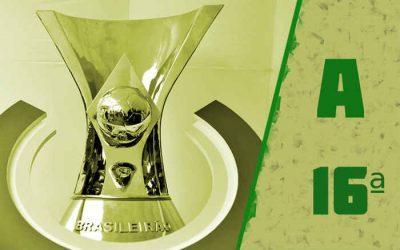 A classificação da Série A de 2020 após a 16ª rodada, com empate triplo na liderança