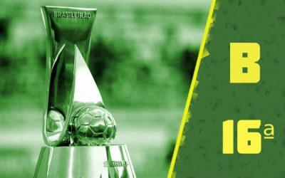 A classificação da Série B de 2020 após a 16ª rodada, com o Cruzeiro no Z4