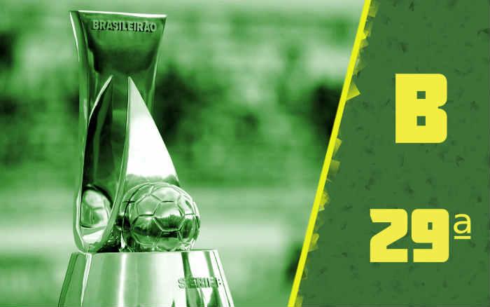 A classificação da Série B de 2021 após a 29ª rodada; Vitória e Confiança no Z4