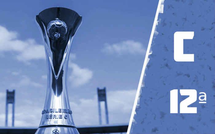 A classificação da Série C de 2021 após a 12ª rodada; líderes mantidos pela 1ª vez