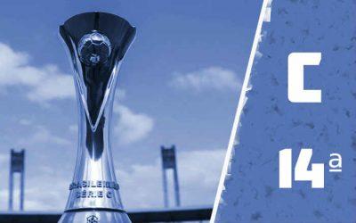 A classificação da Série C de 2020 após a 14ª rodada, com o Santa classificado