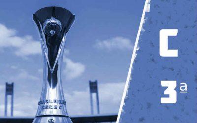 A classificação da Série C de 2020 após a 3ª rodada da 2ª fase; turno embolado