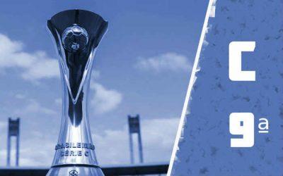 A classificação da Série C de 2021 após a 9ª rodada; fim do primeiro turno