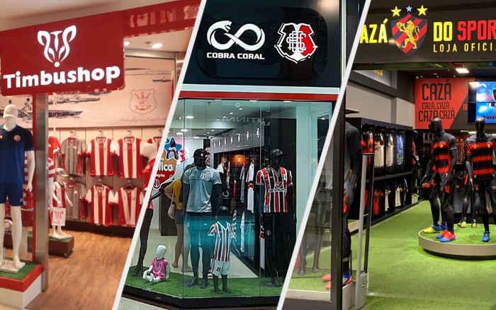 O boom improvável de lojas oficiais dos clubes pernambucanos nos shoppings em 2020