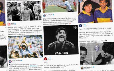 As mensagens de despedida dos clubes do Nordeste para Maradona