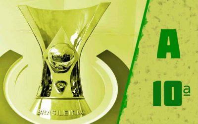 A classificação da Série A de 2021 após a 10ª rodada; Sport entrou no Z4