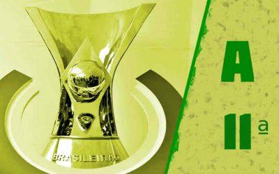 A classificação da Série A de 2021 após a 11ª rodada; Fortaleza de volta ao G4