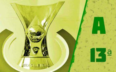 A classificação da Série A de 2021 após a 13ª rodada; Fortaleza venceu a 4ª seguida