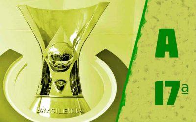 A classificação da Série A de 2021 após a 17ª rodada; Bahia e Sport trocam técnicos